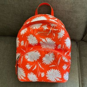 "NWT Kate Spade ""karissa"" backpack orange/white"